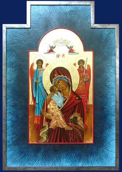 Vierge de Tendresse avec 2 anges