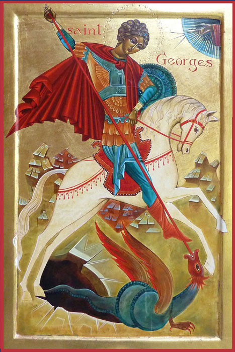 Saint Georges à cheval