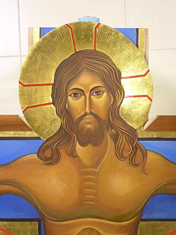 Visage du Christ presque terminé