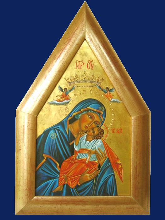 Vierge bleue gothique