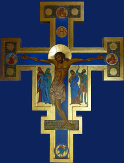 Grand Crucifix bleu