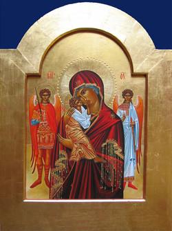 Vierge avec 2 anges