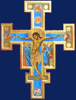 Petit Crucifix bleu