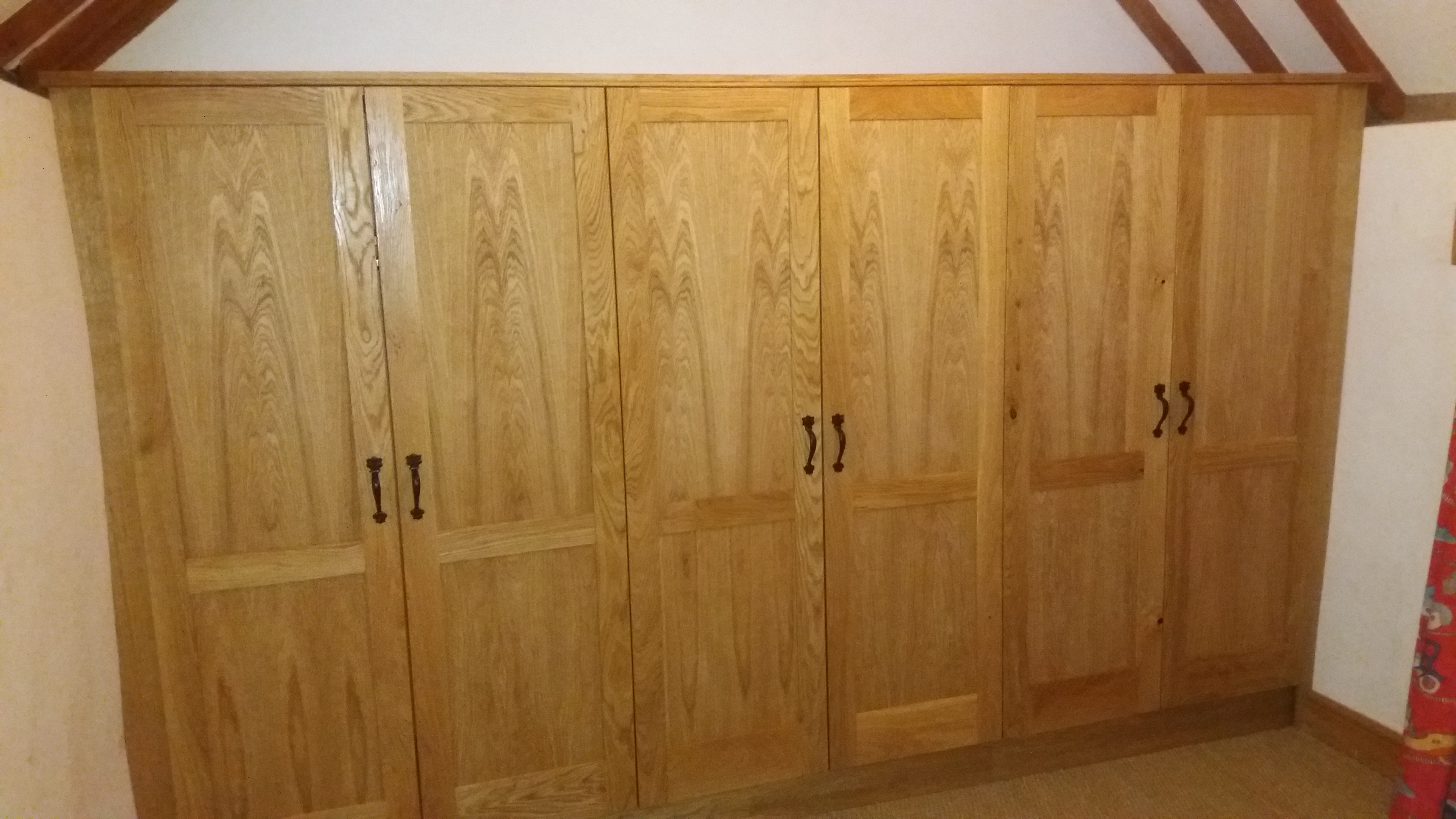 Solid oak and veneer wardrobes
