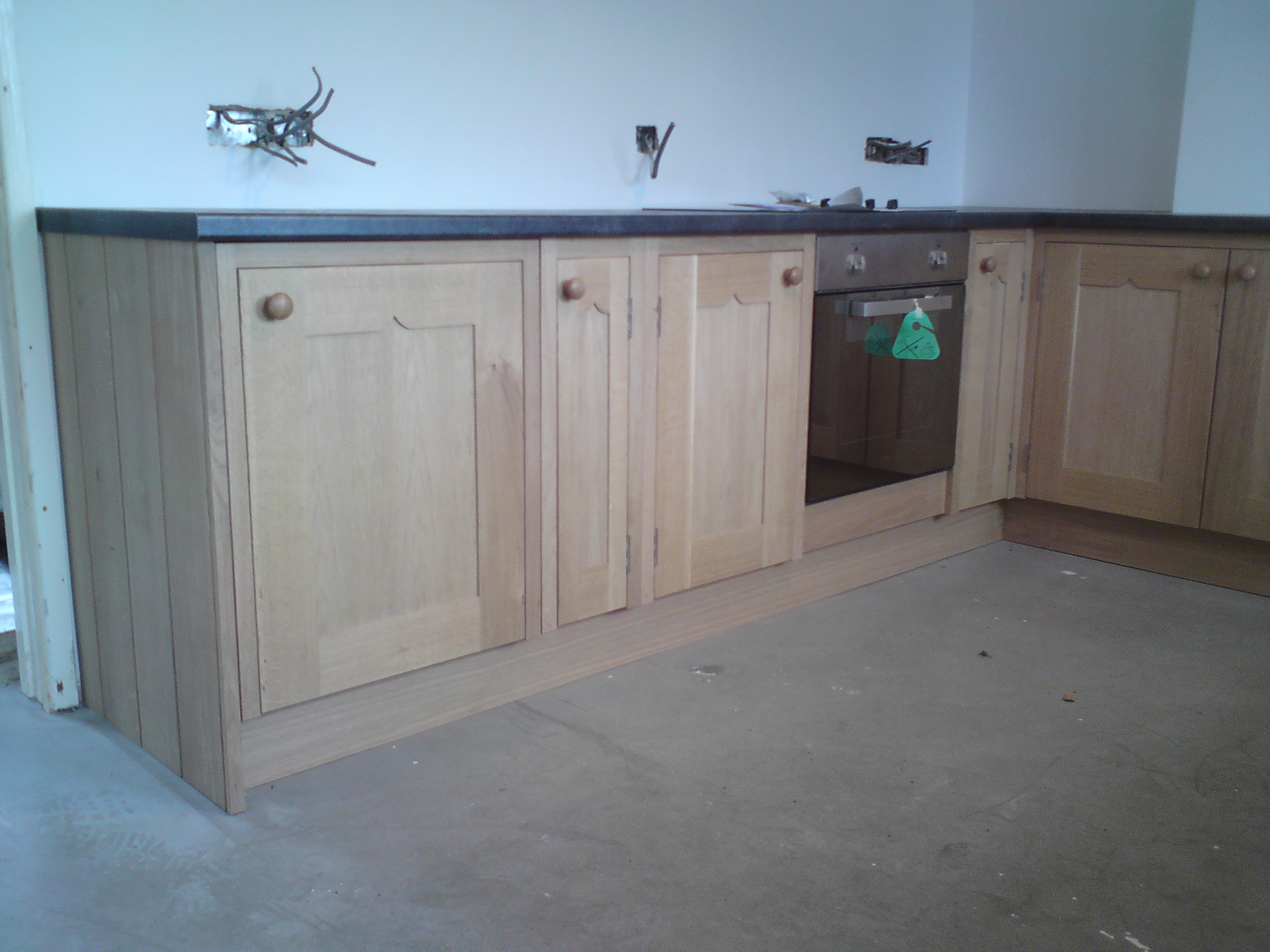 Solid oak kitchen units