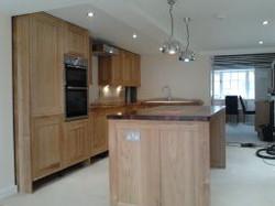 Hand-made oak kitchen