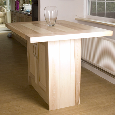 Solid ash kitchen island - Worcester