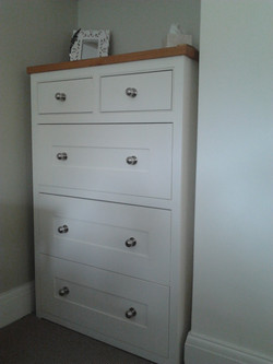 Hand-made chest of drawers