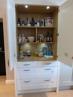Kitchen larder cupboards bespoke