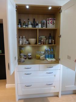 Bespoke painted larder cupboard