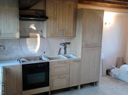 Hand-made kitchen in progress