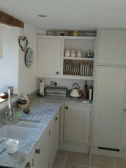 Hand-made painted kitchen