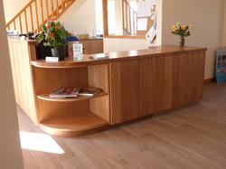 Oak reception counter