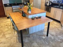Hand-made kitchen island