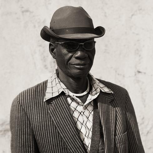 Herero Man, Namibia, 2007, Triptych I