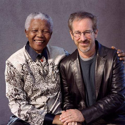 Nelson Mandela and Steven Spielberg, 2000