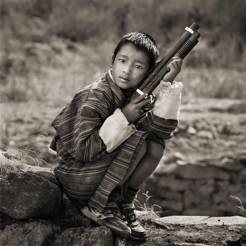 Young Boy at Religious Festival, Bhutan, 2010