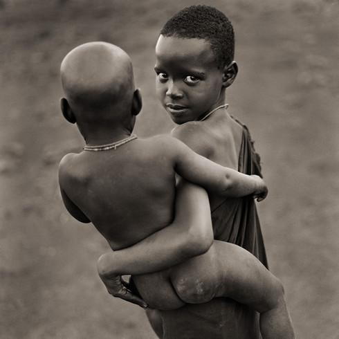 Njemps Sister and Brother, Kenya, 1985