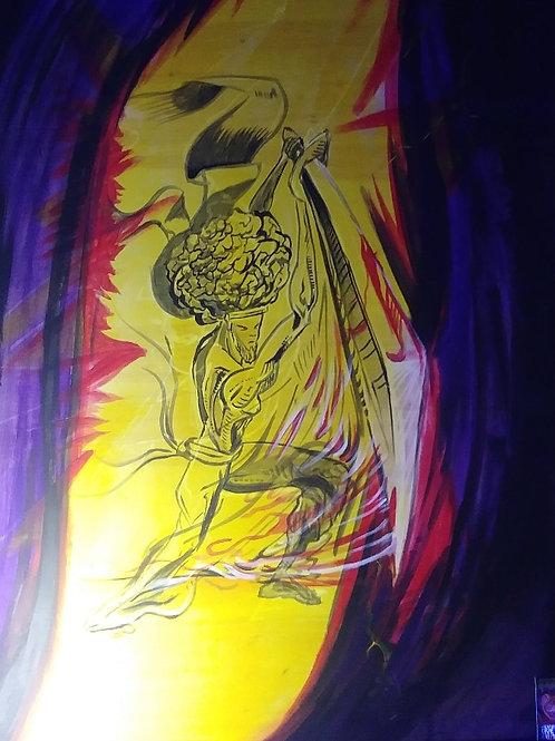Black Ninja - Part 1 (3'x4' ft Original painting)
