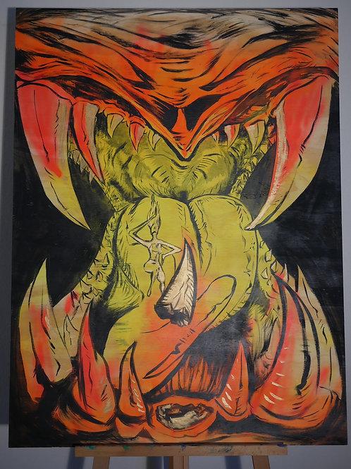 """Golden Fang"" (3'x4' Original Painting)"