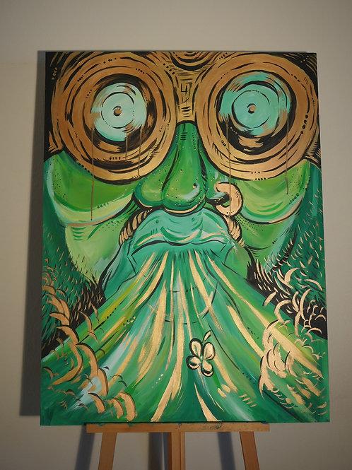 """""""Leprechaun's Smoke"""" (3'x4' Original Painting)"""