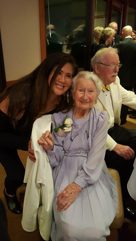 This is Joan at her 100 birthday Celebration