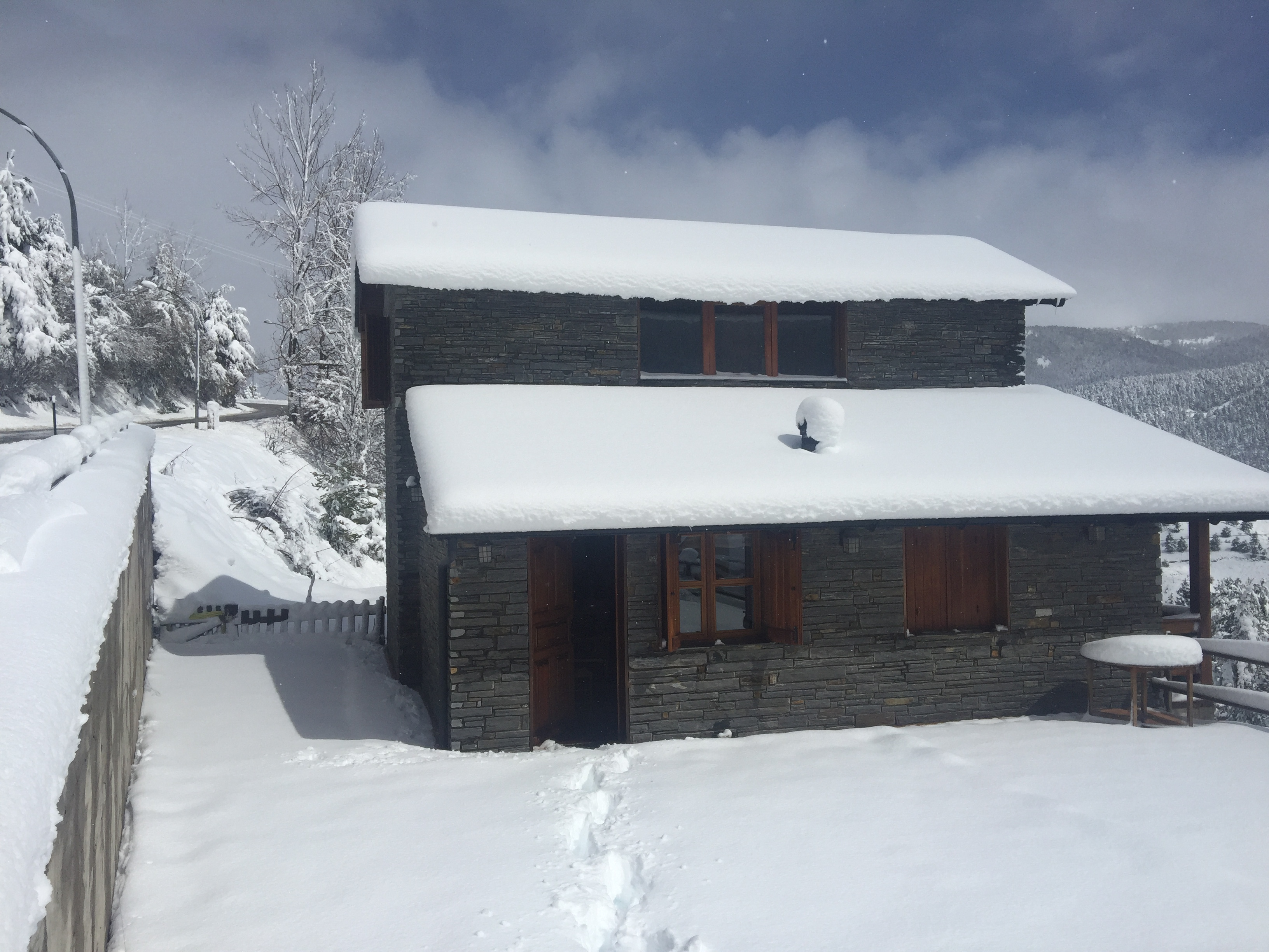 the Chalet during the winter