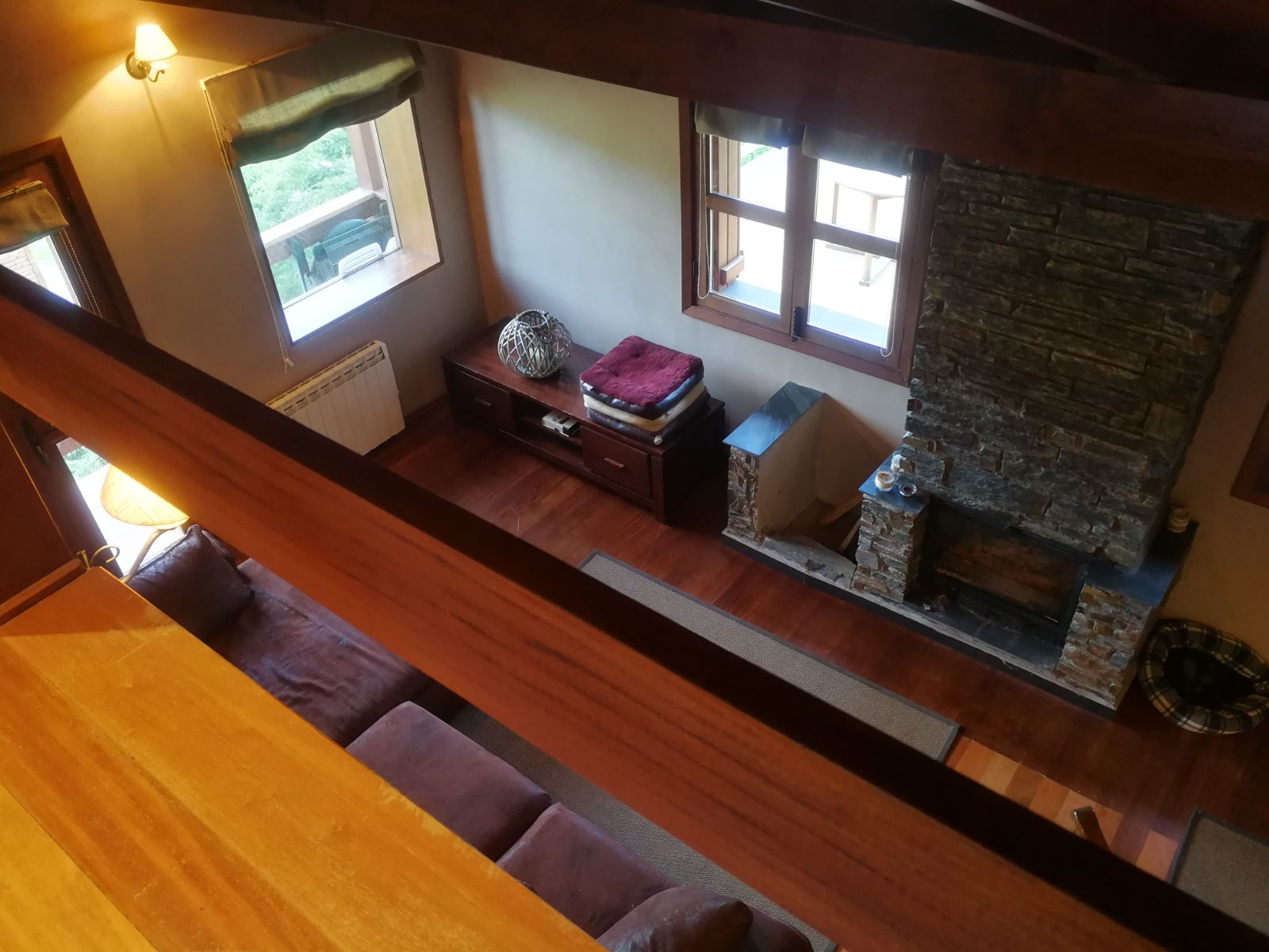 the living room seen from above