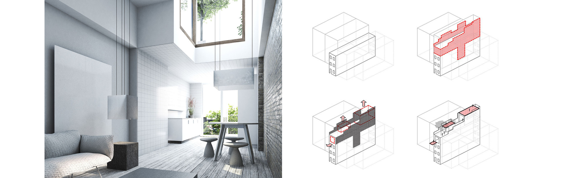 narrow townhouse – vertical extension – harlem, ny 2015 study
