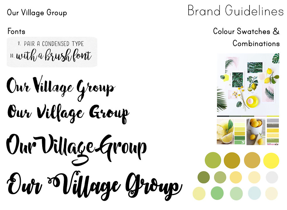 Branding brand guidelines fonts typeface design values colour scheme brand