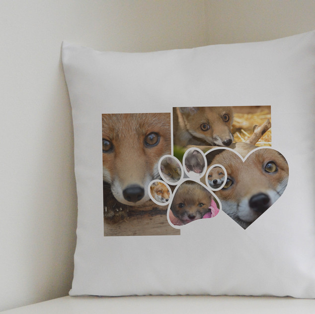 fox collage cushion cover and Cushion