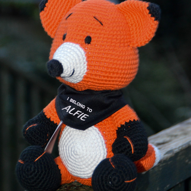I BELONG TO ALFIE PERSONALISED FOX PLUSH