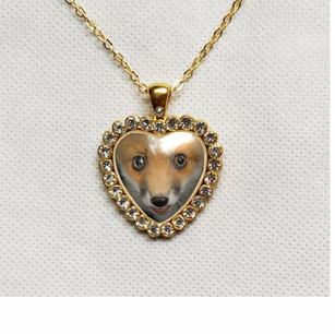 Red Fox Heart Necklace