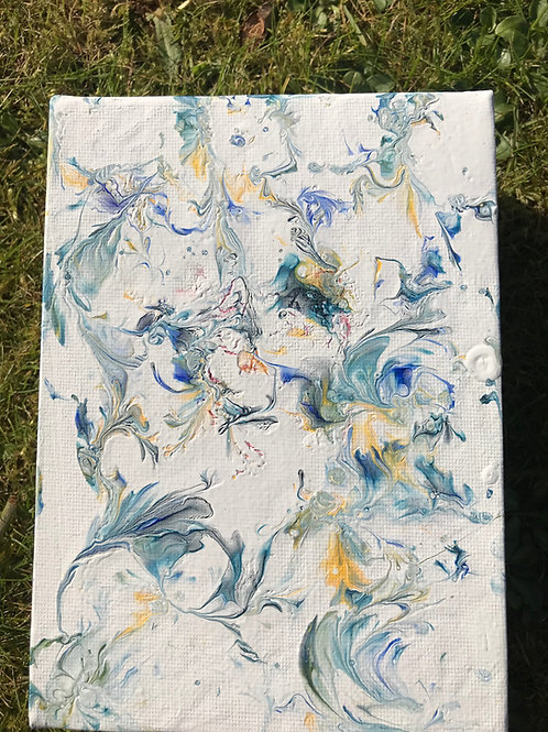 Blue flower fall