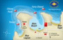 Blue Lagoon Bali map