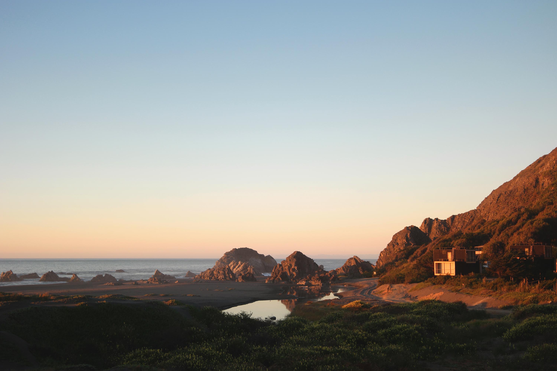 Bout de baie à Puertecillo - Chile