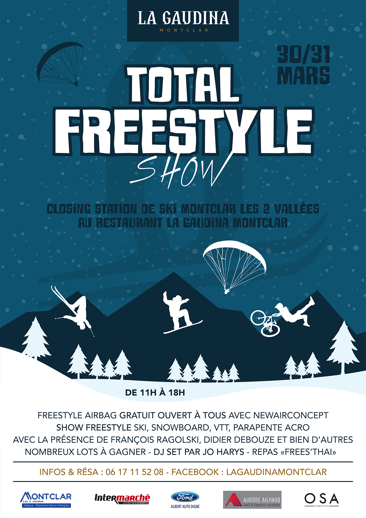 affiche total freestyle la gaudina