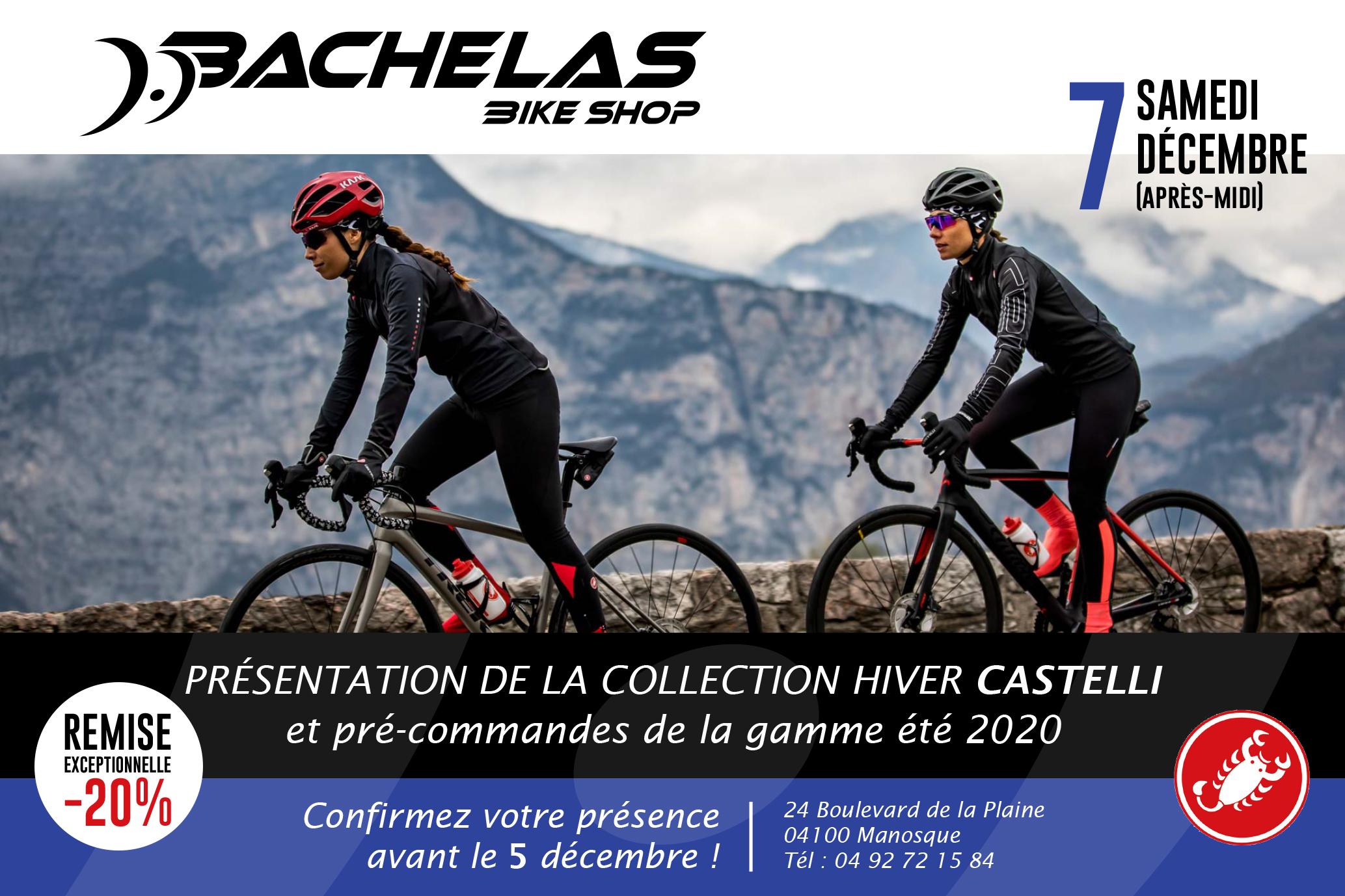 Flyer essayage Castelli Bachelas