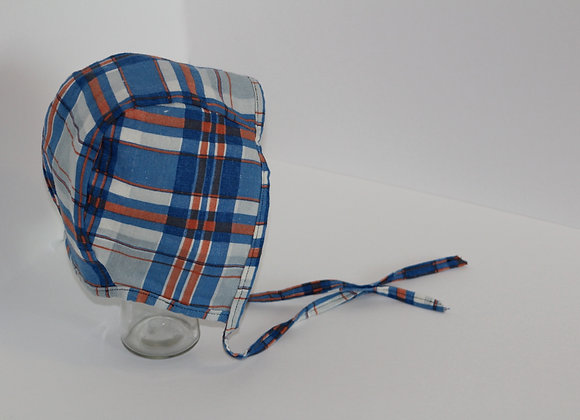 Classic in Blue and Orange Plaid