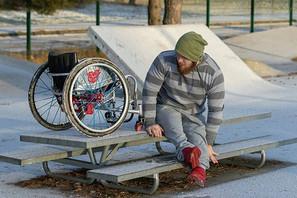 Rovop pyörätuoliskeittaus valmistautuminen talvi