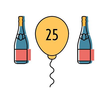 25 Patronen + 3 Flessen Wijn
