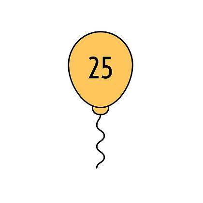 25 Patronen