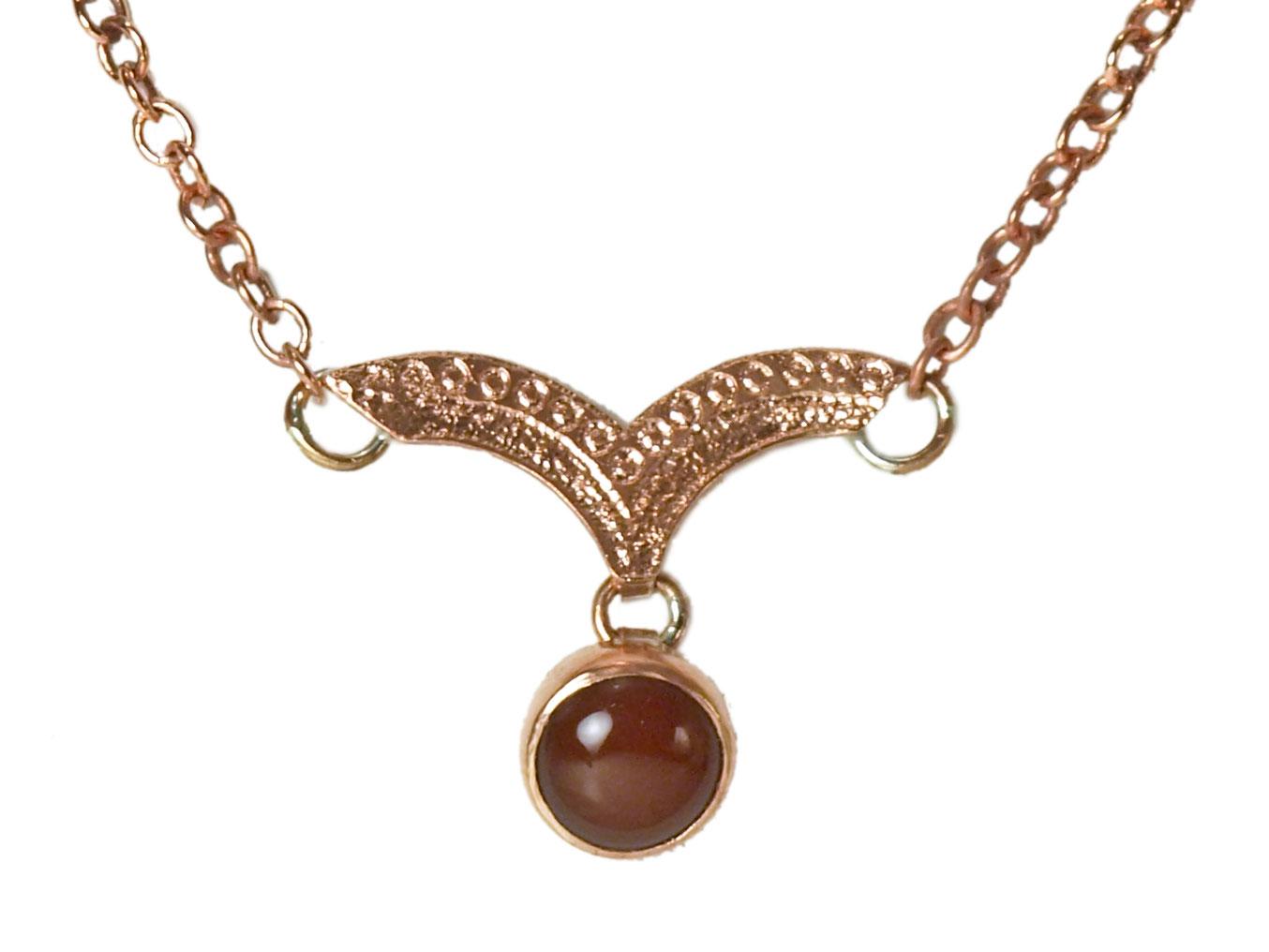 Dew Drop Necklace with Carnelian