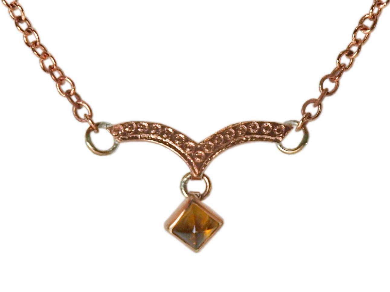 Dew Drop Necklace with Citrine