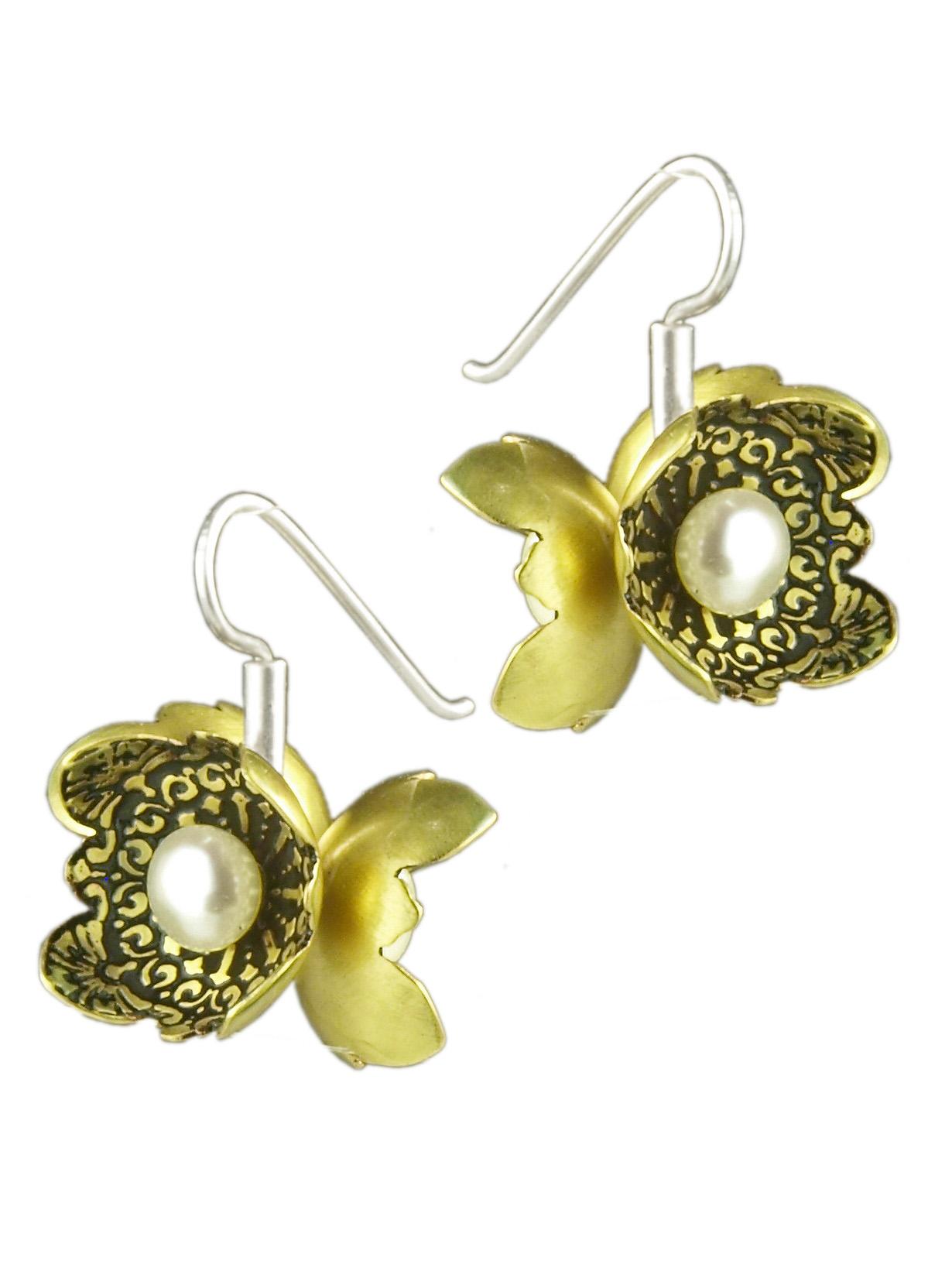 Pearl Flower Cluster Earrings