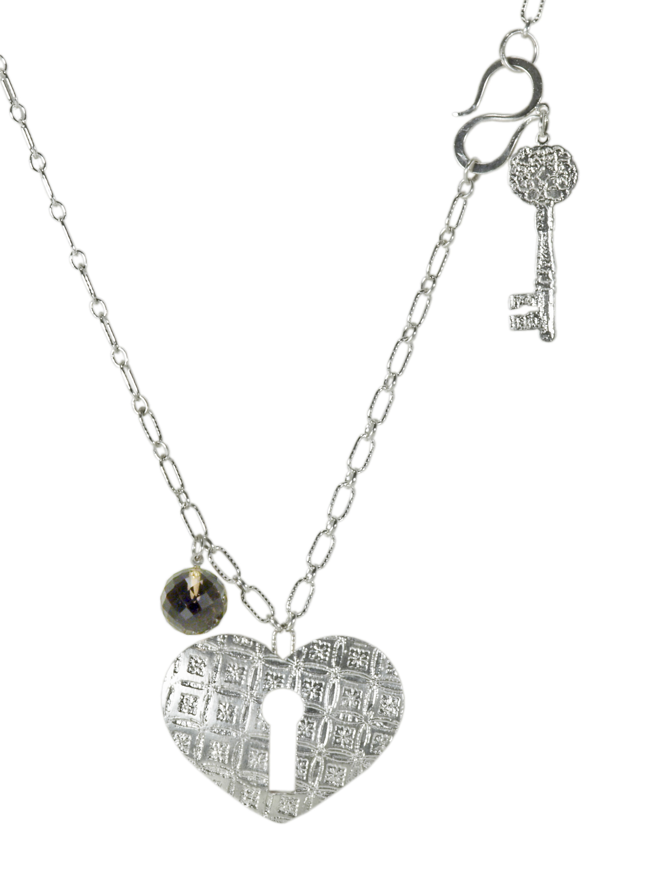 Keyhole Heart Necklace