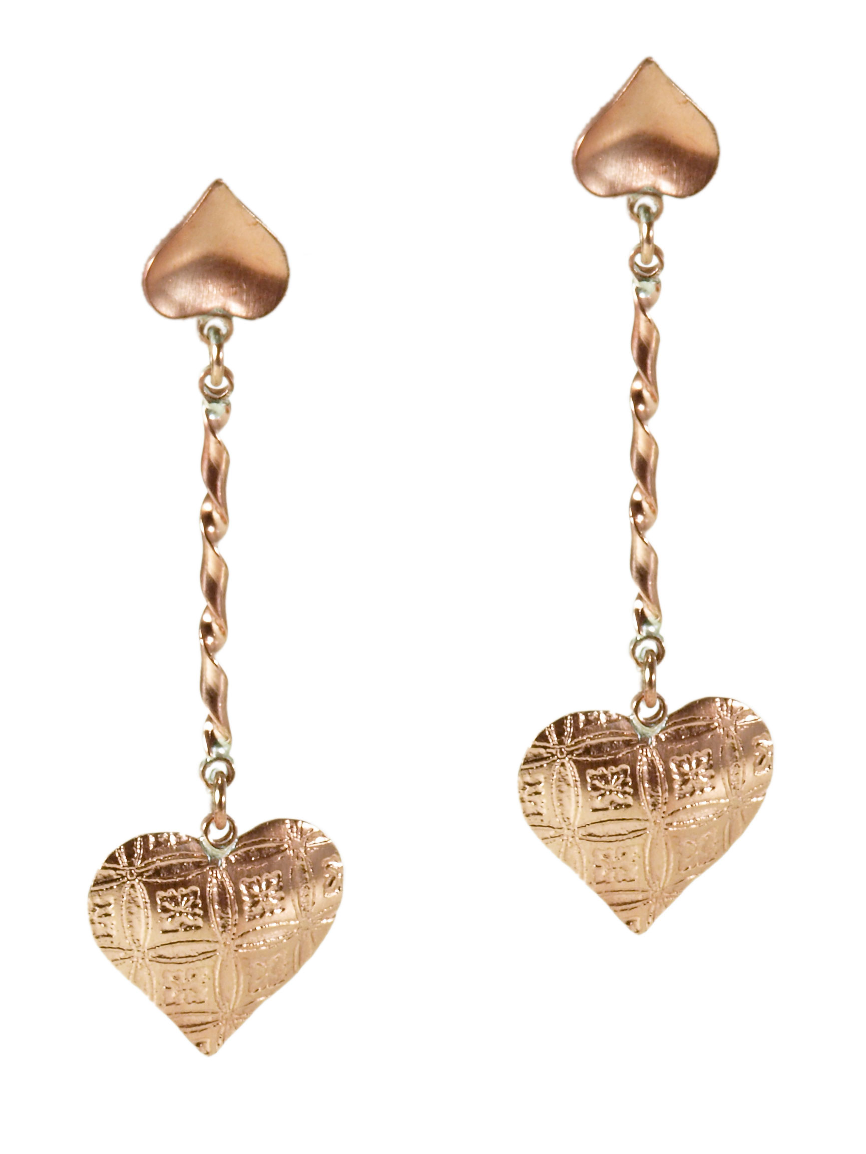 Copper Hearts Aflutter Earrings