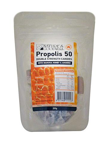 Propolis 50 Candies with Manuka Honey and Aniseed 200g
