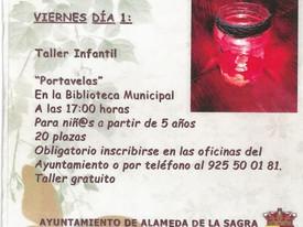 PROGRAMACIÓN CULTURAL: TALLER PORTAVELAS