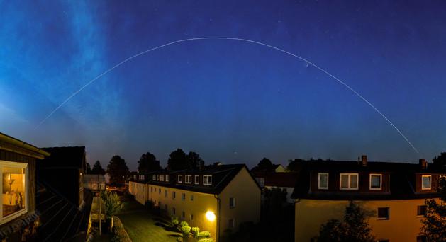 ISS passing over Pinneberg - Germany